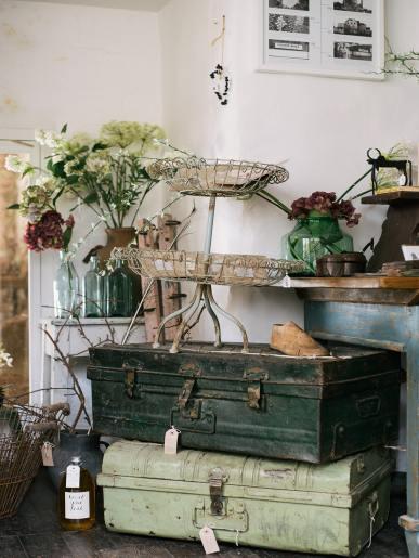 Suitcase Style Antique Metal Box