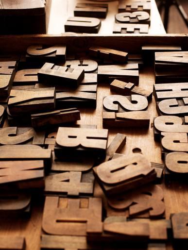 Old Wooden Printing Blocks