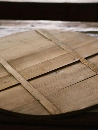 Antique Round Bread Board
