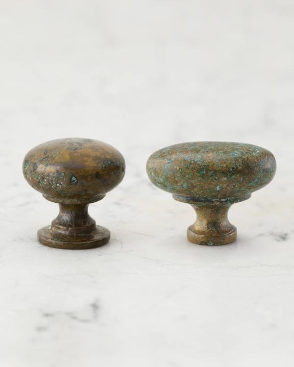 Aged Verdigris Bronze Knobs