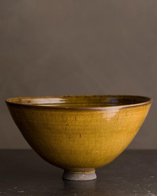Large Amber Glaze Rice Bowl