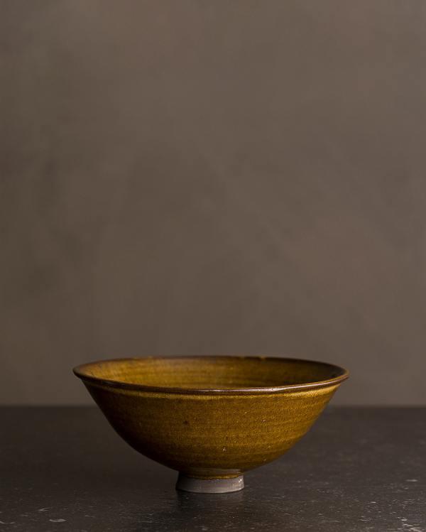 Small Amber Glaze Miso Bowl