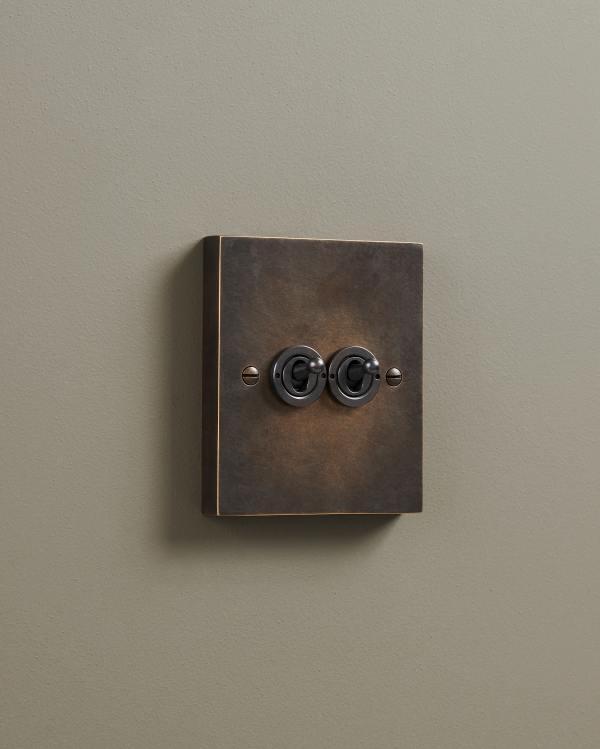 Oxidised Brass Box Toggle Switches