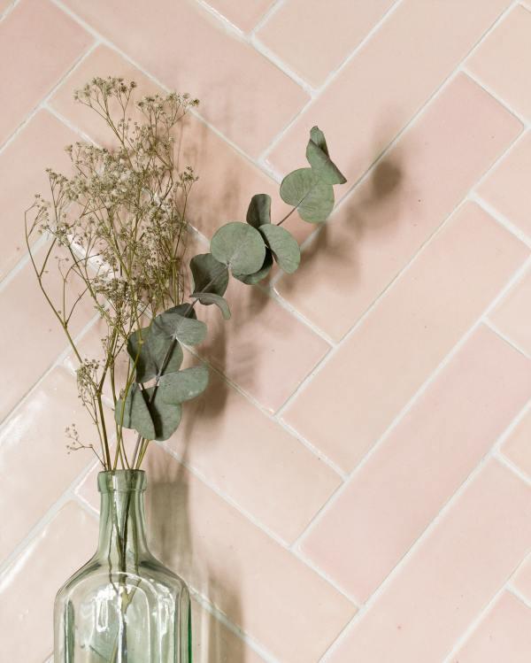 Blush Pink Handmade Tiles