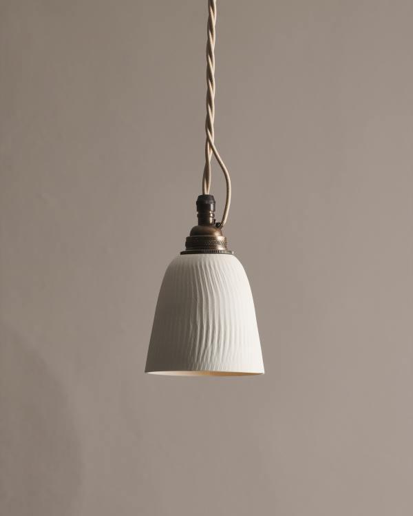 Large Chattered Beaker Porcelain Light