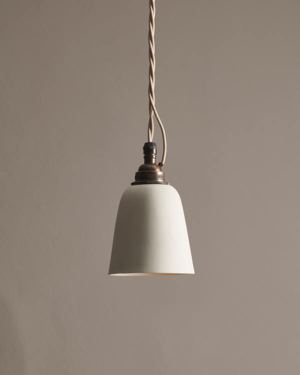 Large Plain Beaker Porcelain Light