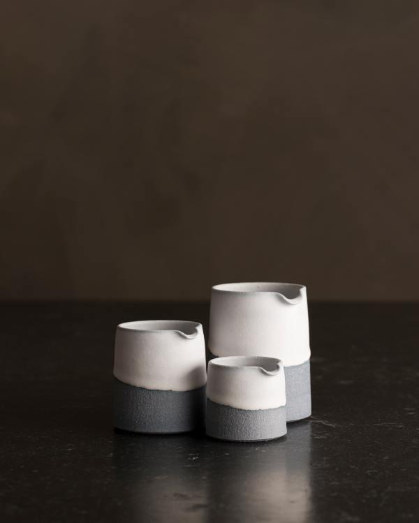 Set of 3 Slate Blue Pourers