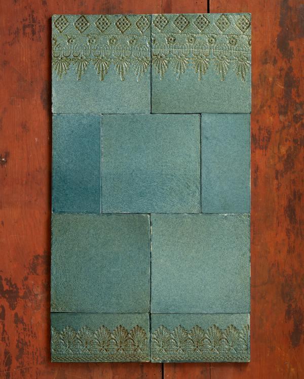 Vintage Teal Lace Market Tiles
