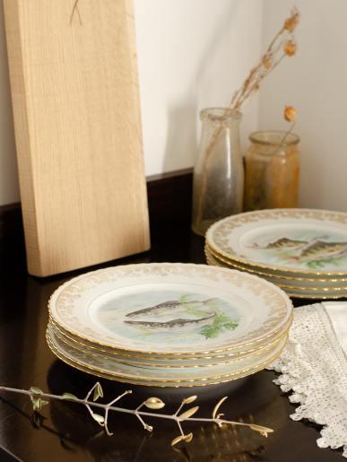 Antique Fish Plates